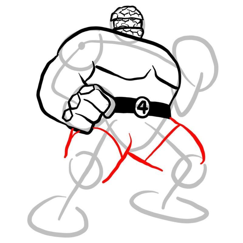 Как нарисовать Существо из Марвел 8