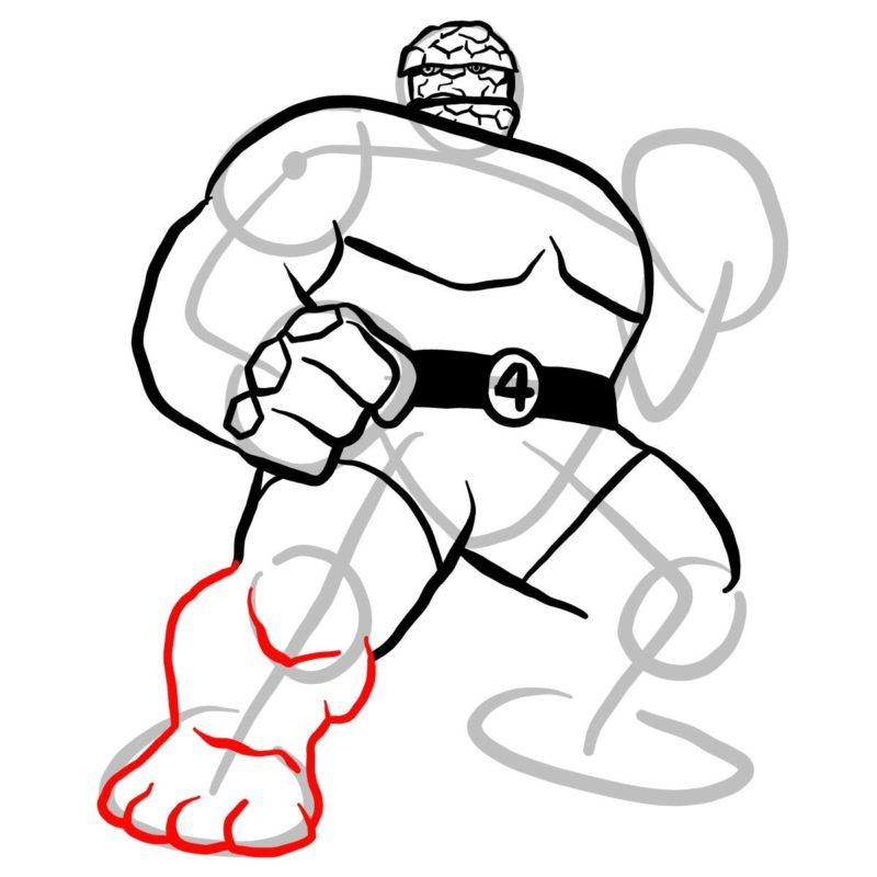 Как нарисовать Существо из Марвел 9