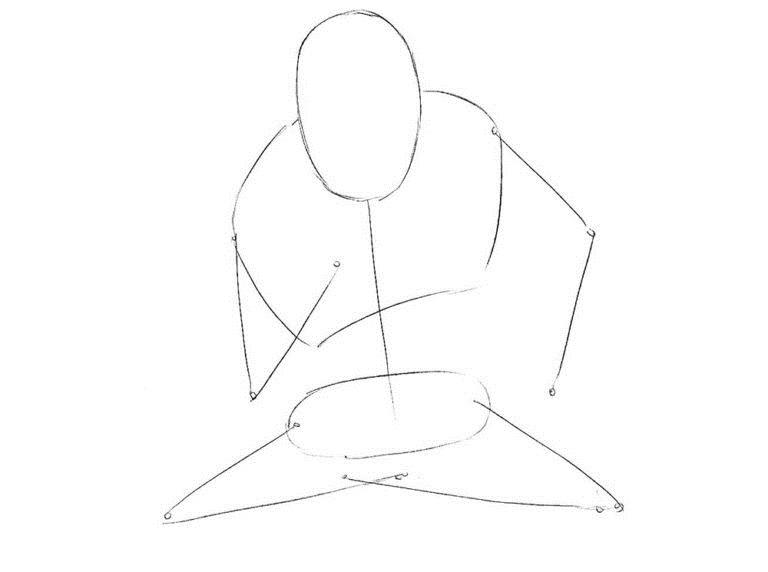 Как нарисовать Хорна из комикса 1
