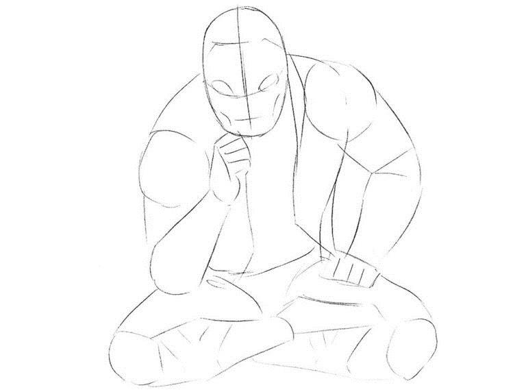 Как нарисовать Хорна из комикса 3