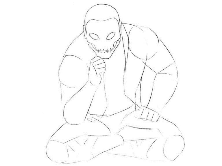 Как нарисовать Хорна из комикса 4