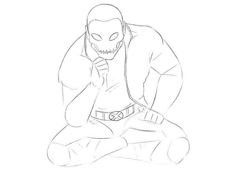 Как нарисовать Хорна из комикса 5