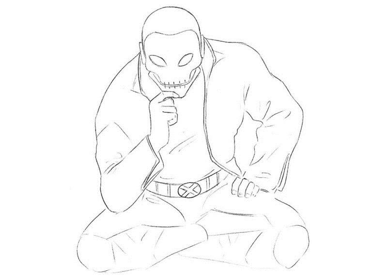 Как нарисовать Хорна из комикса 6
