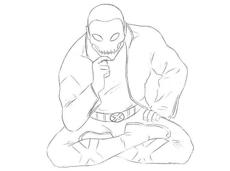 Как нарисовать Хорна из комикса 7