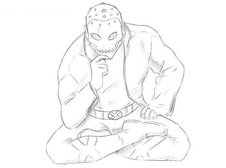 Как нарисовать Хорна из комикса 8