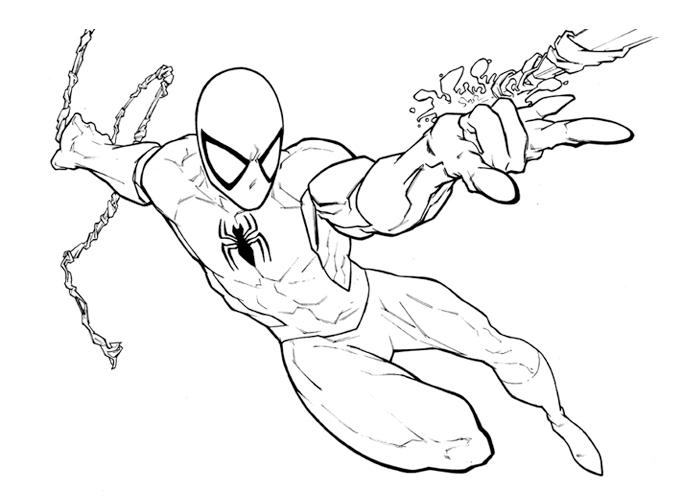 Срисовки Человека Паука 11