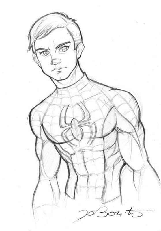 Срисовки Человека Паука 14