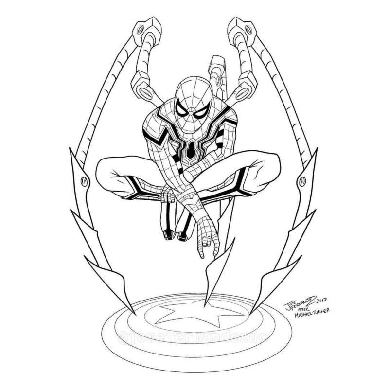 Срисовки Человека Паука 15