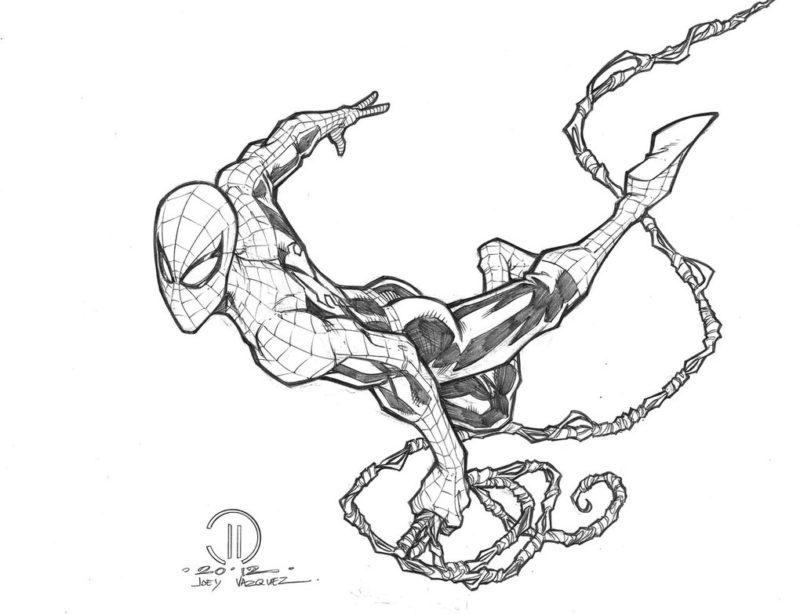 Срисовки Человека Паука 5