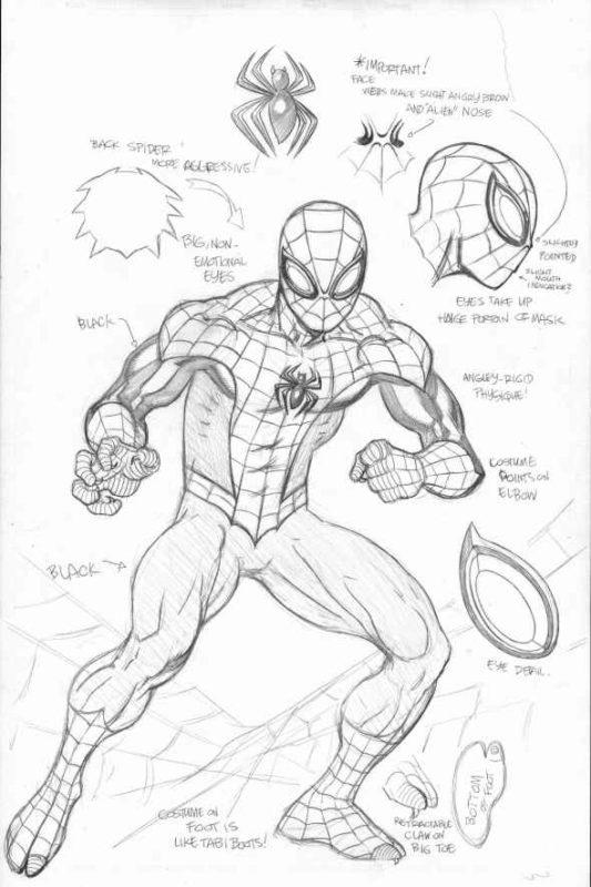 Срисовки Человека Паука 6