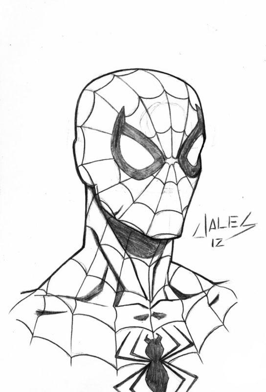 Срисовки Человека Паука 8