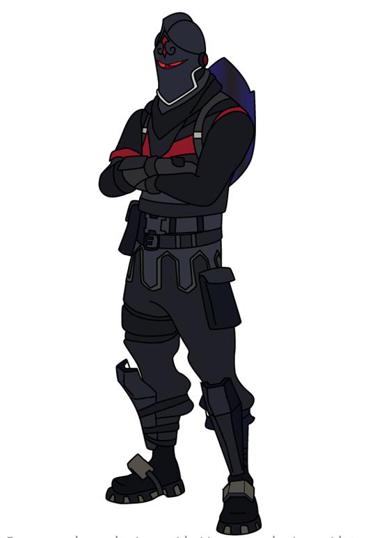 Как нарисовать скин Черного Рыцаря из Фортнайт 0