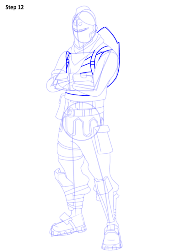 Как нарисовать скин Черного Рыцаря из Фортнайт 12
