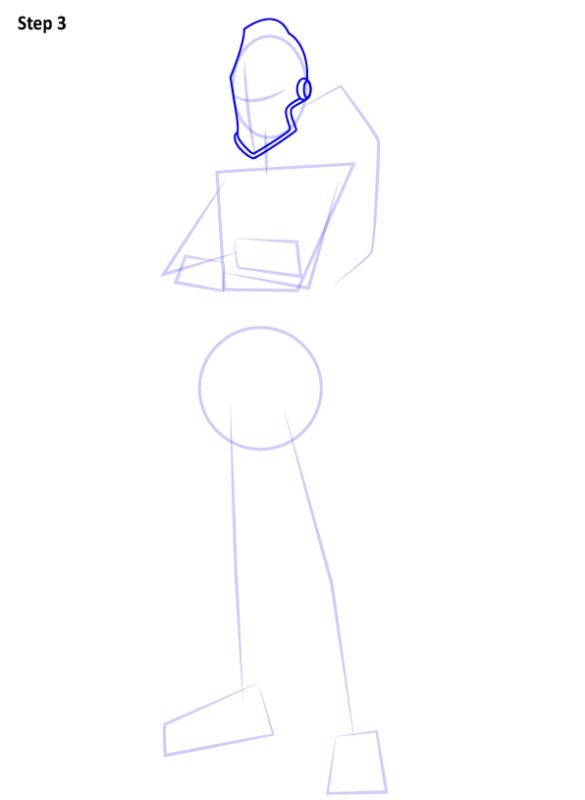 Как нарисовать скин Черного Рыцаря из Фортнайт 3