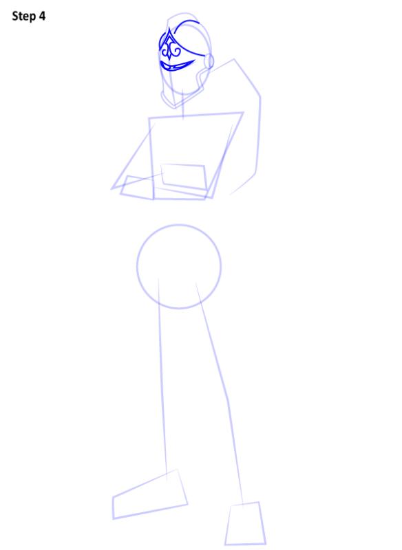 Как нарисовать скин Черного Рыцаря из Фортнайт 4