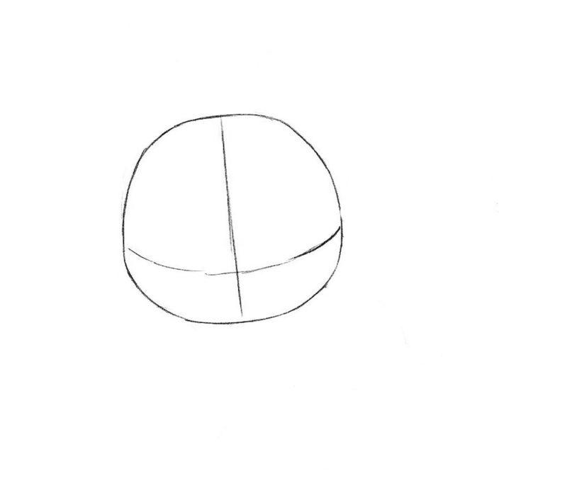 Как нарисовать чиби лису 1