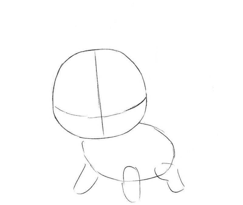 Как нарисовать чиби лису 2