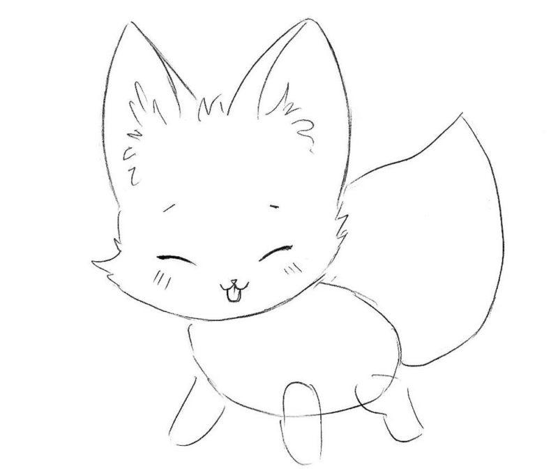Как нарисовать чиби лису 5