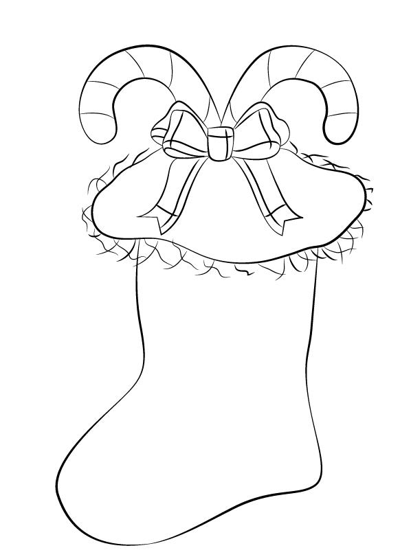 Рисуем Рождественский носок 0