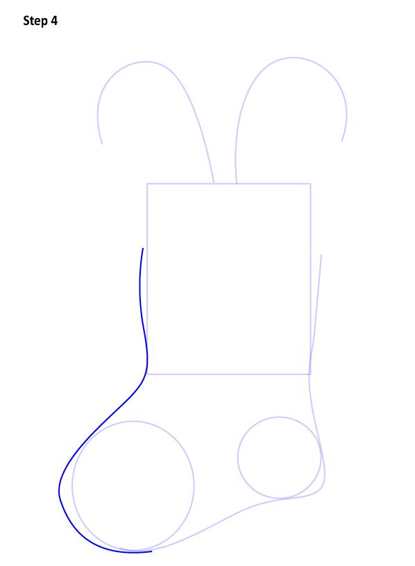 Рисуем Рождественский носок 4