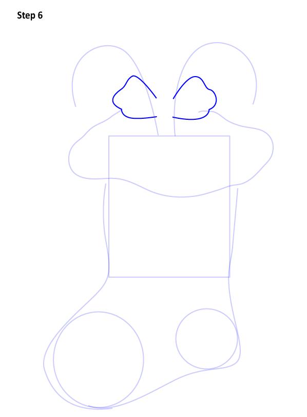 Рисуем Рождественский носок 6