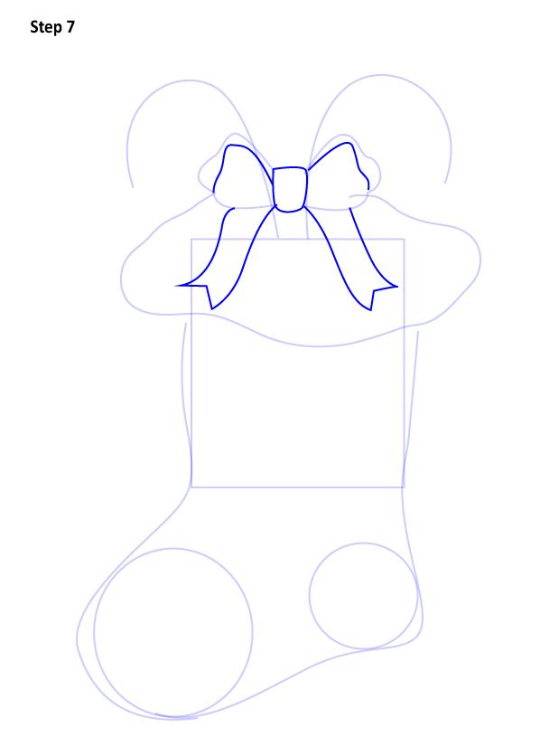 Рисуем Рождественский носок 7