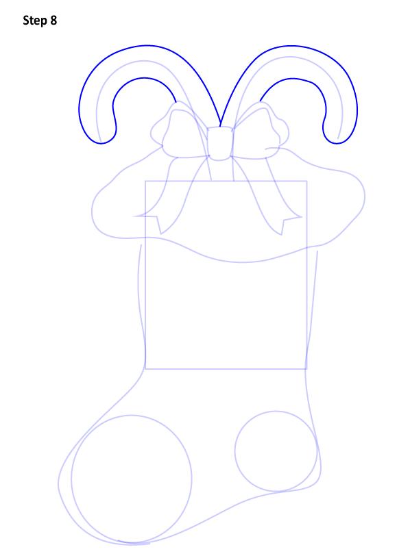 Рисуем Рождественский носок 8