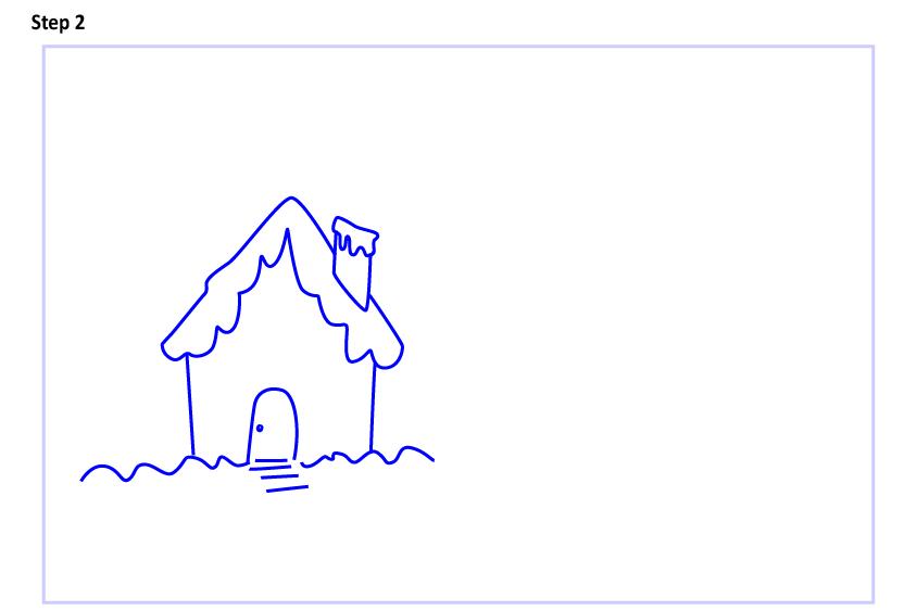Рисуем новогодний пейзаж 2