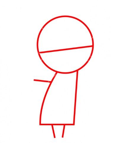 Как нарисовать Денниса из Монстры на каникулах 1