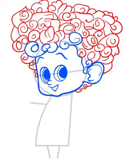 Как нарисовать Денниса из Монстры на каникулах 5
