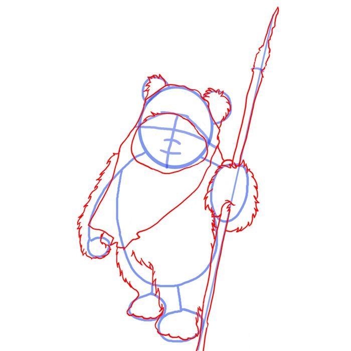 Как нарисовать эвока 3