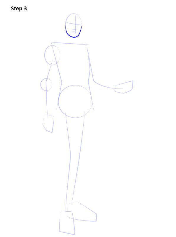 Как нарисовать Лиару 3