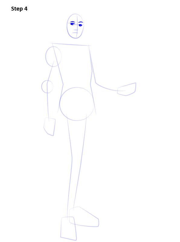 Как нарисовать Лиару 4