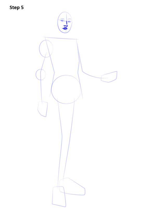 Как нарисовать Лиару 5