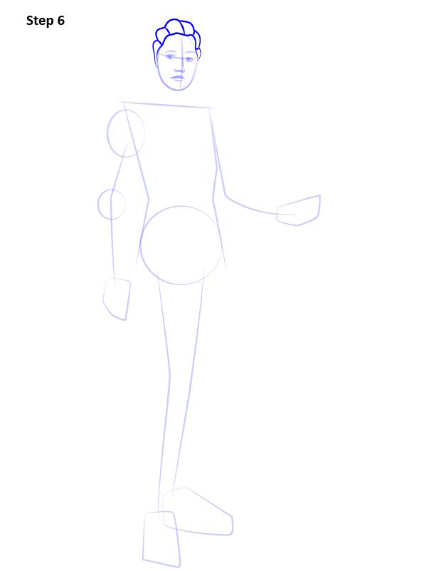 Как нарисовать Лиару 6