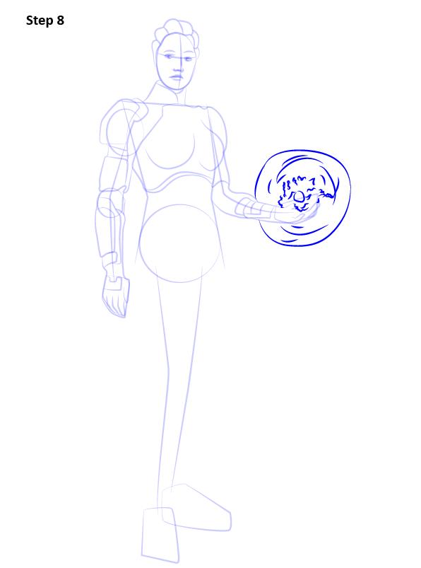 Как нарисовать Лиару 8
