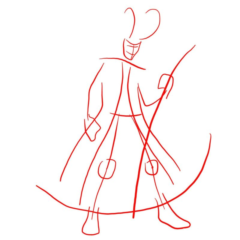 Как нарисовать Локи 1