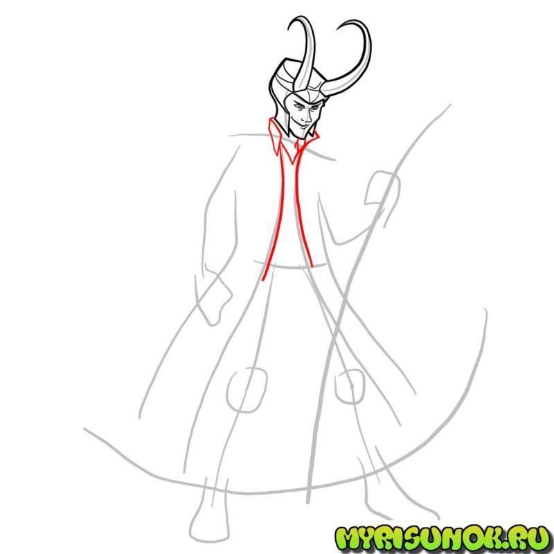 Как нарисовать Локи 6