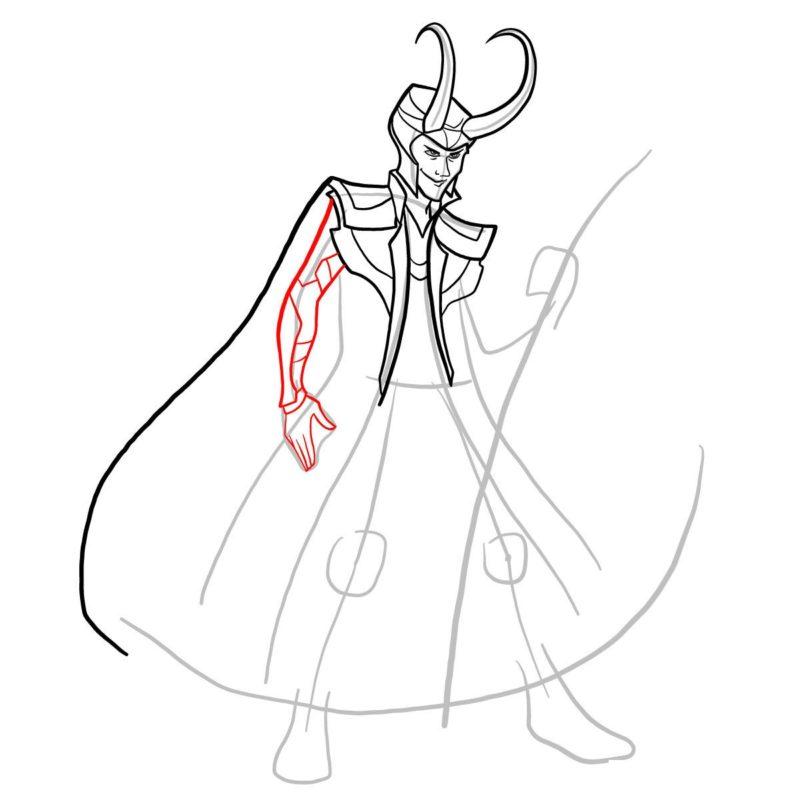 Как нарисовать Локи 9