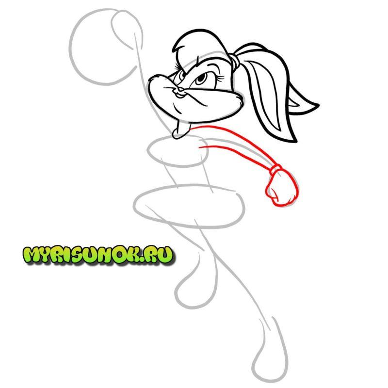 Как нарисовать Лолу Банни 5