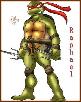 Как нарисовать черепашку Рафаэля 0