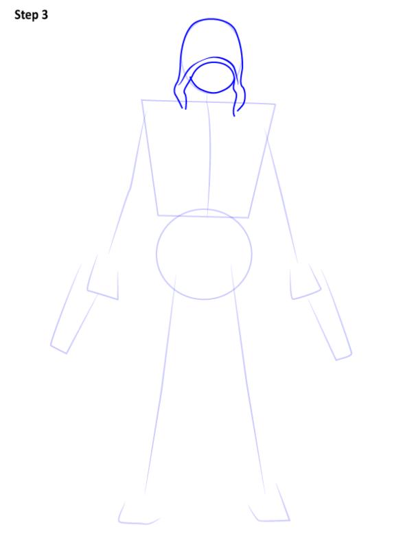 Как нарисовать Красного колпака 3