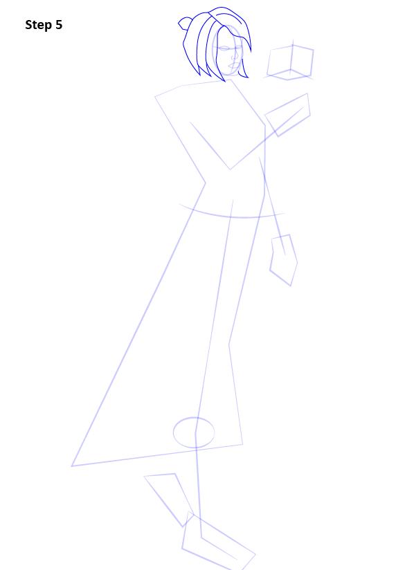 Как нарисовать Сатель Шан 5