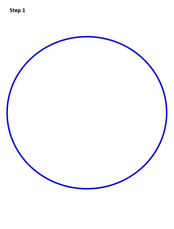 как нарисовать снежный шар 1