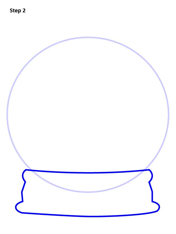 как нарисовать снежный шар 2