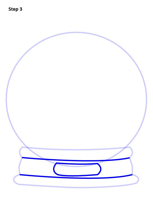 как нарисовать снежный шар 3