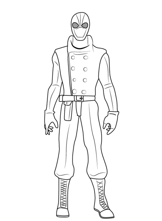 Рисуем Человека Паука нуар 0