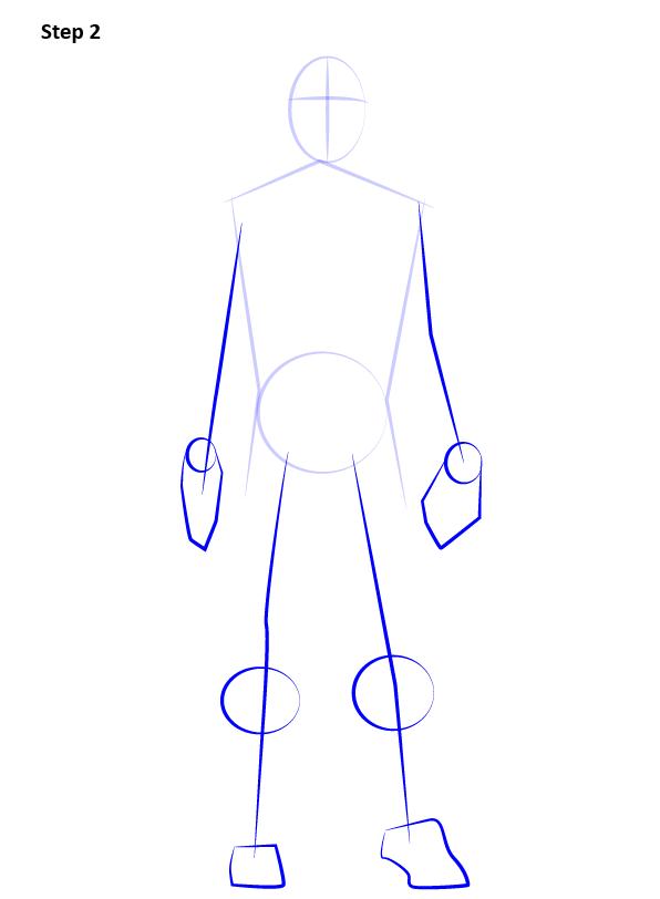 Рисуем Человека Паука нуар2
