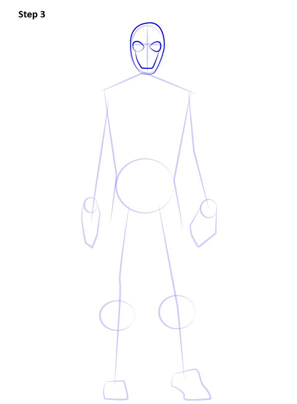Рисуем Человека Паука нуар3