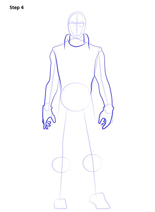 Рисуем Человека Паука нуар4